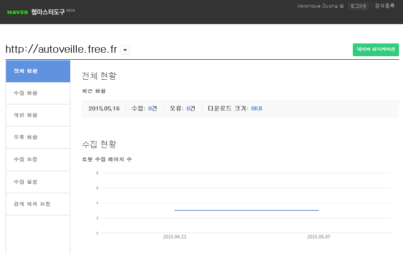 Naver Webmaster Tools - AUTOVEILLE